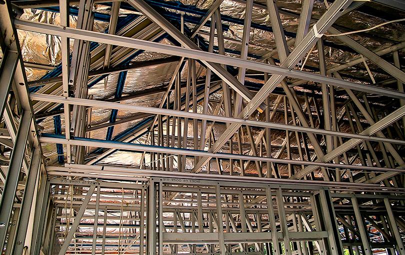 construa mais rápido usando steel frame